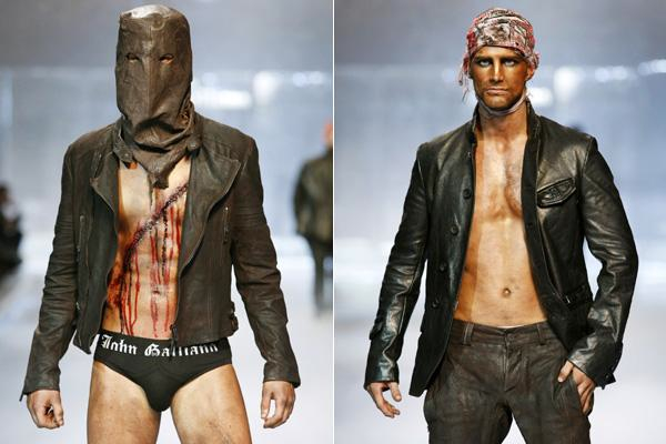 John Galliano's men's autumn/winter 2008-2009 fashion collection.